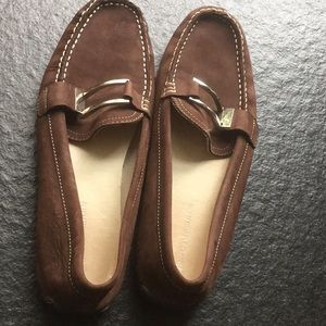 Enzo Angiolini Deluxeo Brown Suede Flats